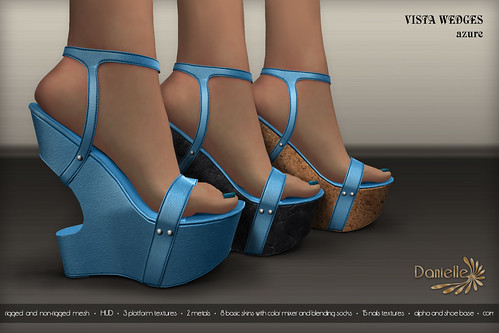 DANIELLE Vista Wedges Azure
