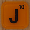 WORDS with friends letter J