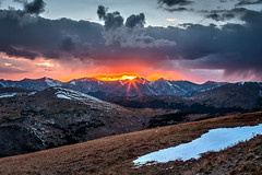 Sunset in Rocky Mountain National Park photo by Jeffrey Sullivan