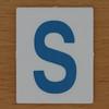 TESCO Hangman blue letter S