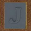 Rubber Stamp Letter J
