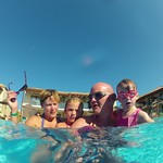 Getting ready for an underwater selfie<br/>16 Aug 2014