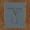 Rubber Stamp Letter Y