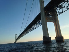 Passing Underneath The Mackinac Bridge (Explore) photo by rabidscottsman