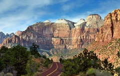 The Road to Zion Mountains photo by thor_mark 