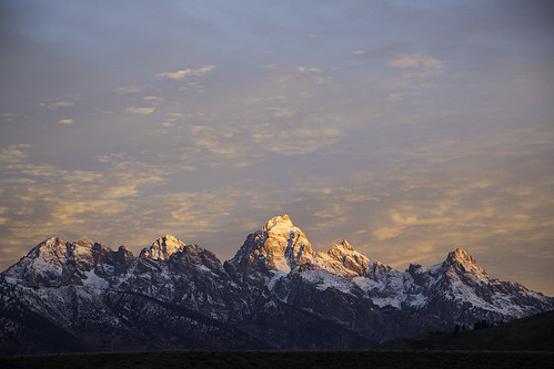 10/30/2014 - A beautiful sunrise today in Jackson Hole.