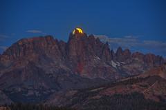 Lunar Eclipse Moon Set Behind the Minarets photo by Jeffrey Sullivan