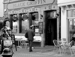 pub and smiling woman photo by teldow