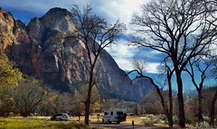 Mountain of the Sun and a Parking Area (Zion National Park) photo by thor_mark 