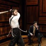 Nicholas Cimino (Danny Saunders) and Sean Fortunato (Reuven Malter) in THE CHOSEN at Writers Theatre. Photo by Michael Brosilow.