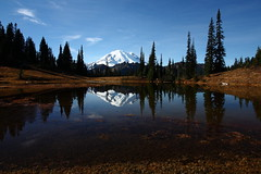 Mount Rainier from Chinook Pass photo by jlcummins - Washington State