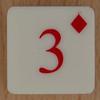 Playing Card Tile 3 of Diamonds