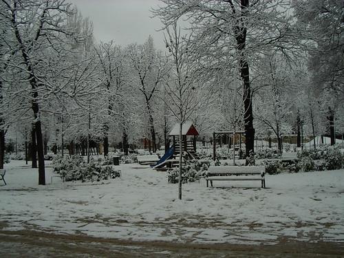 Nieve en Febrero de 2005