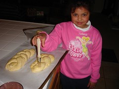 Glazing the Challah
