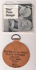 Disc Plate Hanger & A1Scrapmetal: Disc Plate Hanger