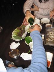 Pouring soju