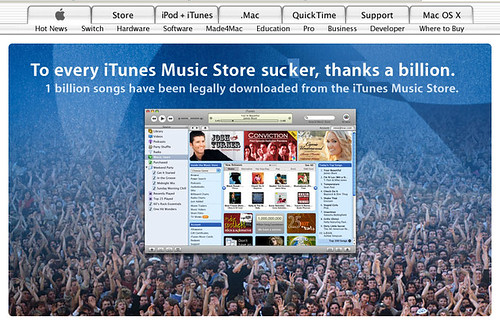 To every iTunes Music Store sucker, thanks a billion