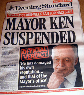 Mayor Ken Livingstone Suspended