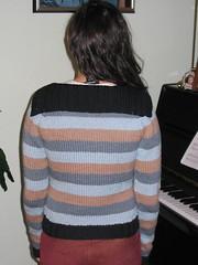 Classy Stripe Raglan - back shot
