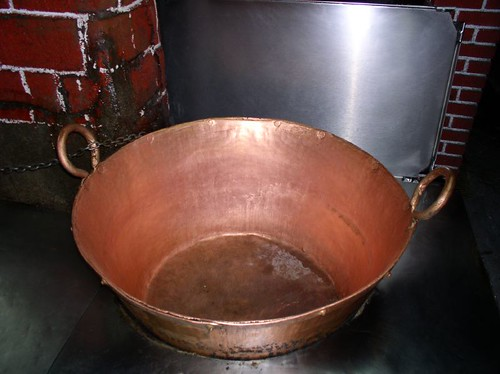Huge copper pot