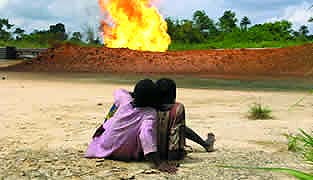 Shell gas flare, Nigeria.