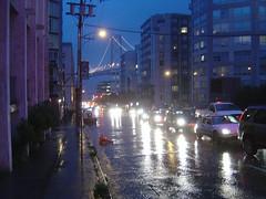 Harrison Street im Regen