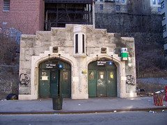 181st St. A train exit at West 184th St.