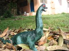 דינוזאור על מצע עלי מנגו