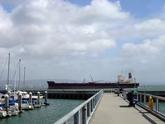 Anglerpier und Tanker