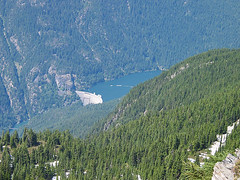 Zooming In To Ross Dam From Northwest Shoulder Of Ruby Mtn
