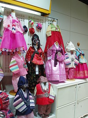 Korean traditional dresses on sale in Doota fashion building
