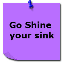 Day 1: Go shine your sink!