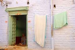 Sitting in the Doorway, Jaisalmer, Rajasthan, India Captured April 14, 2006.