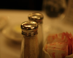 Salt and pepper at Sardi's