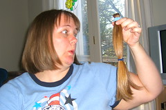 Haircut -- me with pony tail