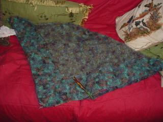 In Progress: Crocheted Shawl