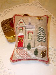 Xmas house exchange ( ornament)