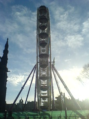 The Edinburgh Wheel during the daylight hours