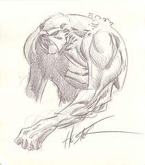 Click on Swamp Thing for more sketches.
