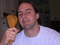 Rykert with gumbo spoon