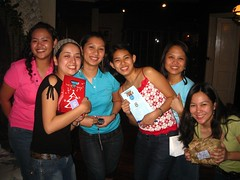With our exchanged gifts :)