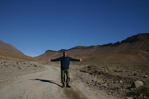 Solitude in the mountains near the Tizi Tinherhouzine pass (2700m)