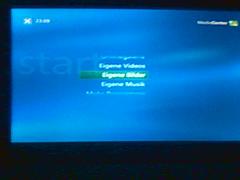 Xbox360 greift auf Windows XP Mediacenter PC zu.