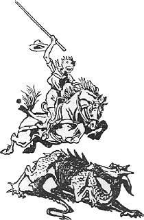 En af BPs illustrationer af Skt. J�rgen og dragen