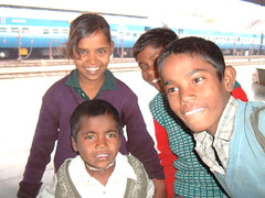 Kids at Agra Station