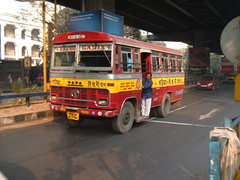 A bus on AJC Bose Rd, Kolkata