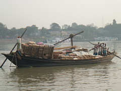 Commercial River Traffic on the Hooghly