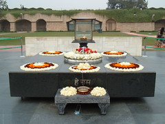 The site of Mahatma Ghandi's Cremation
