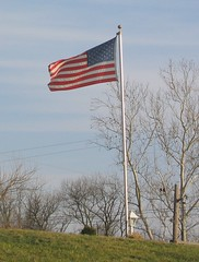 Flag on Windy Day
