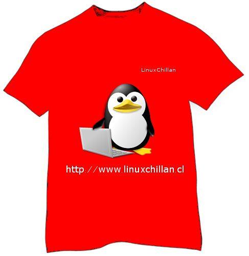 Modelo polera roja LinuxChillan